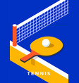 table tennis poster design vector image vector image
