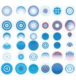 target circles set vector image