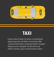 taxi banner top view online mobile application vector image vector image
