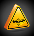 traffic sign vector image vector image