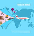 travel world concept for airline vector image