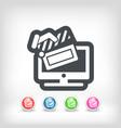 tv cinema icon vector image