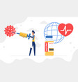vaccination immunization concept doctor holding vector image