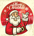 vintage style of santa claus vector image vector image