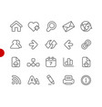 web navigation icons red point series vector image vector image