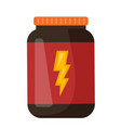 whey protein in a jar cartoon vector image vector image