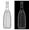 wine bottle hand drawn sketch vector image vector image