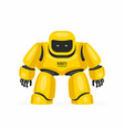 yellow robot vector image vector image