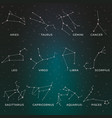 zodiac constellations horoscope and astrology vector image vector image