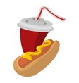 Hot Dog and soda vector image