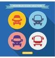 logo icon buses into a flat vector image