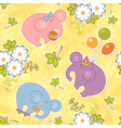 floral and animal seamless baby pattern vector image