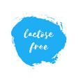 lactose free natural fresh milk splash logo vector image
