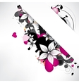 Abstract background with floral elements vector image vector image