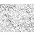 adult coloring bookpage a valentines day heart on vector image vector image