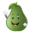 avocado with face vector image vector image