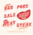 banners and headers for sale of meat products vector image vector image