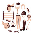 beige equestrian circle vector image