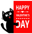 black cat holding big signboard looking up cute vector image