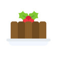 black pudding icon christmas food and drink vector image vector image