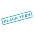 Black Teen Rubber Stamp vector image vector image