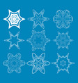blue round patterns vector image vector image