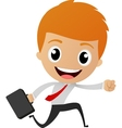 Businessman running to work vector image