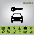 car key simplistic sign black icon at vector image vector image