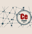 cerium chemical element vector image vector image