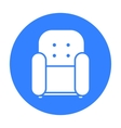 Chair icon of for web and vector image vector image