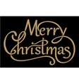 Christmas handdrawn lettering with shadows vector image vector image