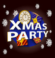 christmas party template vector image vector image