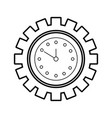 clock inside gear business time work concept vector image