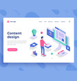 content design concept office man interact vector image