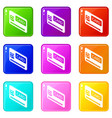 credit card icons set 9 color collection vector image vector image