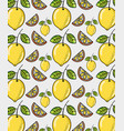 cute lemons background vector image vector image