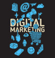 digital marketing poster design with isolated vector image vector image