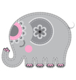 fabric animal cutout elephant vector image vector image