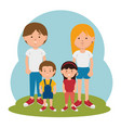 family members avatars characters vector image