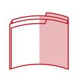 flat line folder design vector image vector image