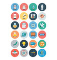 Flat Science and Technology Icons 1 vector image
