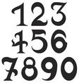 fundamental number set2 vector image vector image