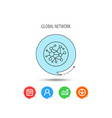 global network icon social connections sign vector image