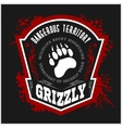 Grizzly Bear - military label badges and design vector image vector image