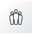 group outline symbol premium quality isolated vector image vector image
