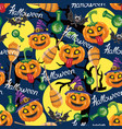 halloween pattern seamless pattern vector image