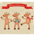 Happy deers Christmas card vector image vector image