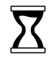 hourglass clock time vector image
