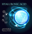 hyaluronic acid or abstract molecules design vector image vector image