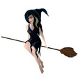 image on white background a young witch is vector image vector image